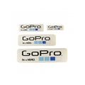 Proocam Pro-f014-WH Gopro Be a Hero Design  Sticker set 4 size - White Colour